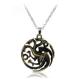Colar Pingente Targaryen Game Of Thrones Somente bronse antigo