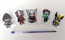 KIT  Mini imãs para fotos Super Heróis  Acrílico