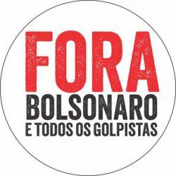 """50 adesivos praguinha """"Fora Bolsonaro!"""""""